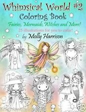 Whimsical World 2 Adult Colouring Book Fairies Mermaids Witches Angels Fantasy