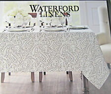 Waterford Paisley Tablecloths Marley/Platinum Asst. Sizes 100% Cotton Easy Care