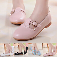 New Toddler Girls Children Sweet Princess Shoes Solid Color Soft Flats Casual