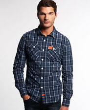 New Mens Superdry Winter Washbasket Shirt Lincoln Navy Check