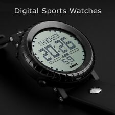Mens WATERPROOF Digital Sports Watch Army Military Fashion LED Water Resistant
