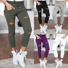Womens Fashion Casual Skinny Stretch Slim Fit Pencil Pants Trousers Leggings New