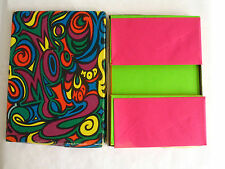 Vintage Mod/Psychedelic 60s Stationary Set-Neon Brights-Original Box-RetroGroove