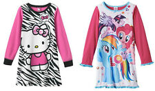 Hello Kitty-6 or My Little Pony-4 Girls Nightgown - Multi - NWT!