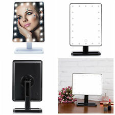 Illuminated Make Up Mirror Dressing Room Table Standing Touch LEDs Light Beauty