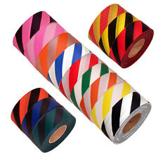12 Roll Case of Flagging Striped NON Adhesive Marking Tape 1 3/16 in x 300 ft ea