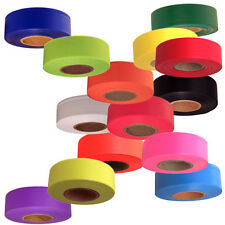 12 Roll Case Fluorescent Flagging NON- Adhesive Tape 1 3/16 in. x 150 ft. ea.
