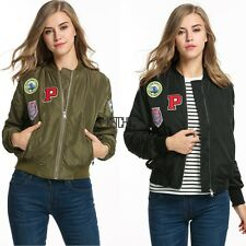 Zeagoo Women Waterproof Applique Biker Slim Quilted Short Bomber Jacket Coat