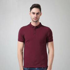 New Summer Men's 100% Cotton Casual Sports Polo Shirts Short sleeve T-shirt