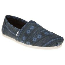 New Mens Toms Blue Classic Canvas Shoes Slip On