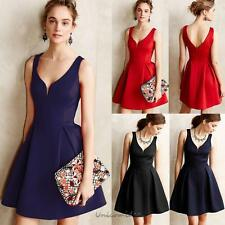 Elegant Women Lady V-Neck Sleeveless Club Party Evening Cocktail Sexy Mini Dress