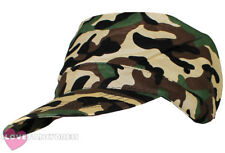 ARMY CAP CAMO CAMOUFLAGE HAT SOLDIER FANCY DRESS HEN STAG PARTY LADIES MENS
