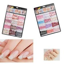 144pcs Mixed Set Fake Nails Art Acrylic Manicure Gel False Nail Tips Artificial