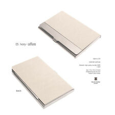 Business Card Holder Personalized Cowhide Metal Skin Card Case excuve CX5 Ivory
