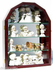 Arch Shape Wall Curio Cabinet Display Case Shadow Box, Glass Door, Mirror Back