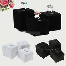 3pcs/Set Earring Ring Velvet Display Stand Holder Jewelry Show Rack Gift S/M/L