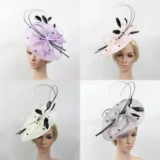 Women Large Headband Fascinator Tea Party Church Fancy Hat Wedding Headdress