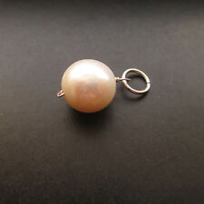 Large Round PEARL Interchangeable Pendant Charm with Jump Ring