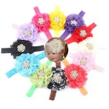 Infant Baby Headwear Girls Pearl Flower Headband Princess Hair Band Accessories