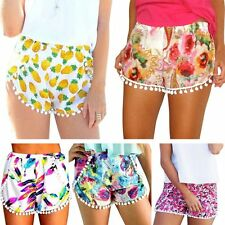 Boho Women Hot Pants Summer Tassel Shorts High Waist Beach Sports Short Pants