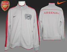 New Nike ARSENAL Football Club N98 LU Jacket Grey & Claret Jackets