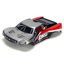 Losi LOSB1783 1/24 4WD Short Course Painted Body, Silver/Red: Micro-Rally