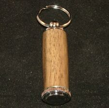 Black Limba Pill or Toothpick Keychain in Chrome or 10k Gold Plating