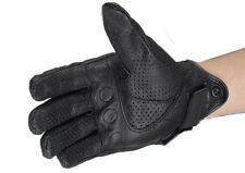 Protective Motorcycle Bicycle Riding Racing Bike Armor Short Leather Gloves MESH