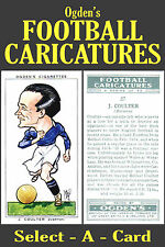 Ogden's FOOTBALL CARICATURES (Soccer & Rugby) - Select-A-Card