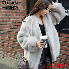 Luxury Women's Faux Rabbit Fur Furry Long Sleeves Long Jacket Coat Outwear Warm