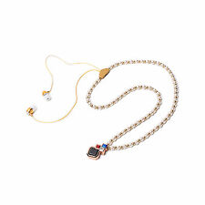 Necklace Stereo Bluetooth Headphone Headset Earpiece For iPhone Samsung HTC LG
