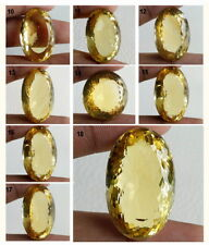 FINEST QUALITY UNTREATED RARE NATURAL GOLDEN YELLOW OVAL FACETED CUT CITRINE