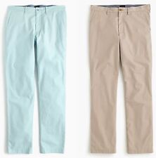 J.Crew Pants Mens 770 Slim Fit Lightweight Flat Front Trousers 100% Cotton Chino