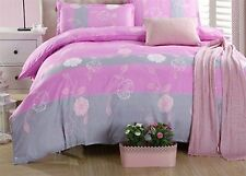 Bedding Quilt Doona Duvet Cover Bed Sheet Pillowcase Set Queen Cotton-Art&Flower