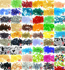 200pcs Jade Glass Crystal Faceted Bicone Beads 4mm Spacer Findings