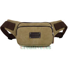 Men Canvas Travel Hiking Cross Body Shoulder  Waist Fanny Pack  Chest Bag Pouch