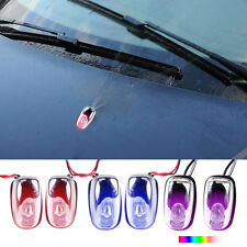 2pcs Car Durable Windshield Washer Wiper Jet Water Spray Nozzle Spout LED Light