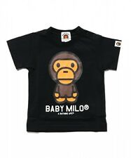A BATHING APE BABY MILO TEE 4 colors Print Toddler BAPE Kids T-shirt From Japan
