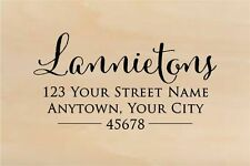 Self Inking Personalized Return Address Stamp - Custom Rubber Stamp R267