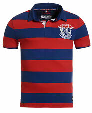 New Mens Superdry Vintage Valiant Rugby Shirt Red