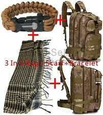Survival Camping Backpack Bag Gear Heavy Duty Molle US Military Utility Tactical