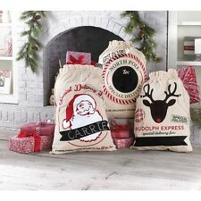 Mud Pie MH6 Sleigh Mates Christmas Holiday Decor or Gift Bag Sack 4265290