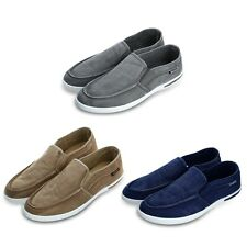 New Canvas Breathable Slip On Driving Sneakers Loafers Casual Mens Leisure Shoes