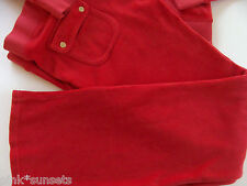 Juicy Couture Velour Red Siam Tracksuit Pocket Pants Track