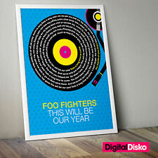 Foo Fighters - This Will Be Our Year Unframed Poster Print. - 2 Sizes Available