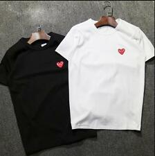 Unisex Japan style round neck CDG Tee Shirt Play Comme Des Garcons Heart T-Shirt