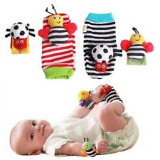 1pair Baby Infant Animals Wrist Foot Socks Rattles Developmental Toys Finders H