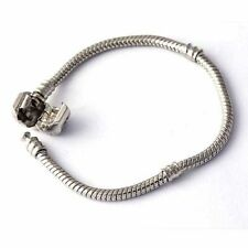 Fashion Mens Womens Wrist Silver Filled Stainless Steel Chain Snake Bracelet Lot