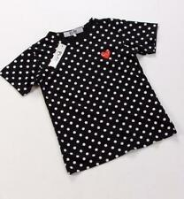 MEN'S COMME Des GARCONS CDG PLAY Dot Black Men Women T Shirt Short Sleeve SMLXL