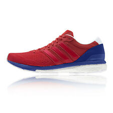 Adidas Adizero Boston Boost 6 Mens Blue Red Running Road Shoes Trainers